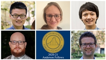 2020-21 Anderson Fellows: Zijian He, Disa Hynjo, Masaki Miyashita, Vitor Possebom, and Trever Williams