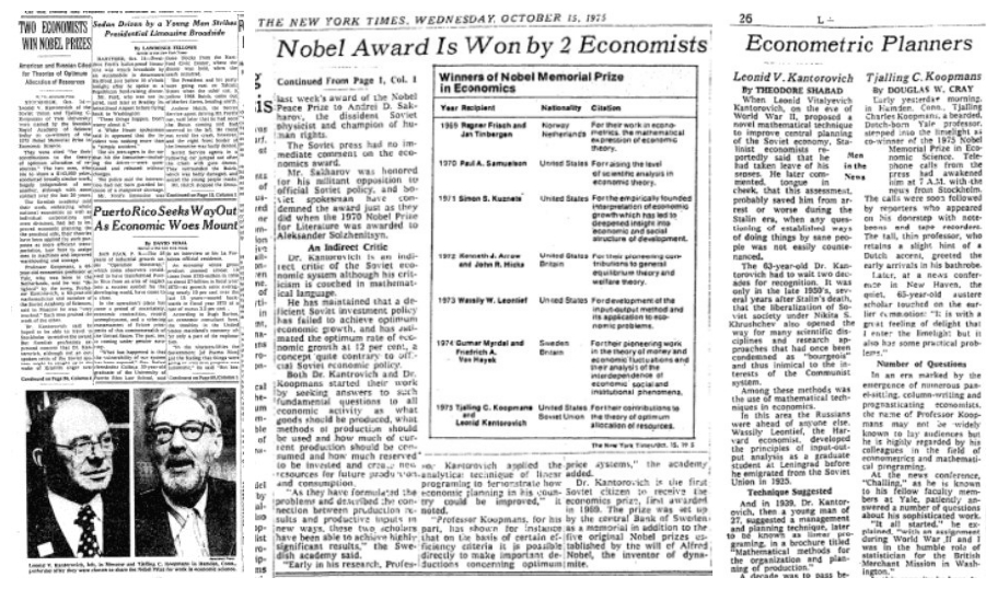New York Times Article 10-15-75