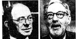 New York Times photo of Leonid V. Kantorovich and Tjalling C. Koopmans