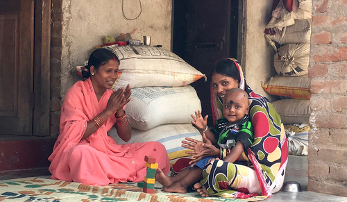 Indian women with child