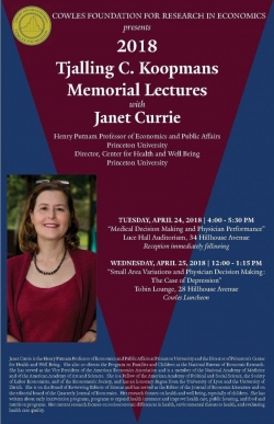 Janet Currie Event Poster