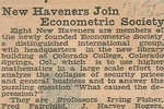 New Haven Register Article, May 15, 1932