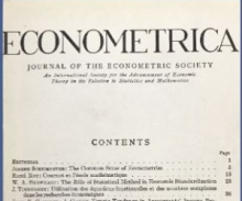 Econmetrica Cover - Alfred Cowles